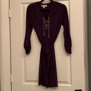 Purple Michael Kors chain tie dress